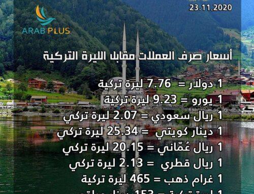 🇹🇷 أسعار صرف العملات مقابل الليرة التركية 🇹🇷