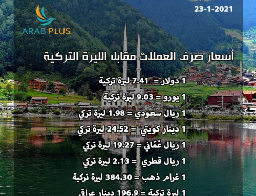 أسعار صرف الليرة التركية 🇹🇷 23/1/2021